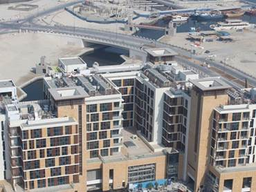 Dubai Properties Dubai Wharf development in Jaddaf Waterfront more than 70 percent complete
