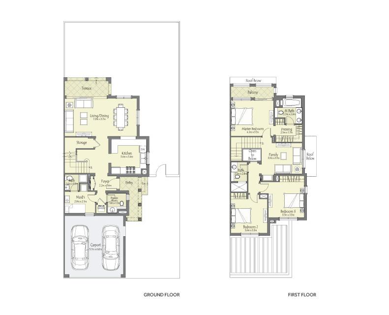 Bella Casa Serena 2 3 Bedroom Villas Dubai Properties